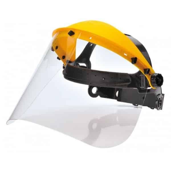 Pantalla de protección facial frente a partículas y salpicaduras.