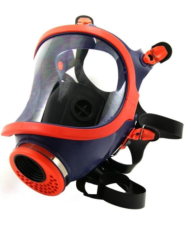Mascara facial protección respiratoria full face de caucho natural Mod. 731-C