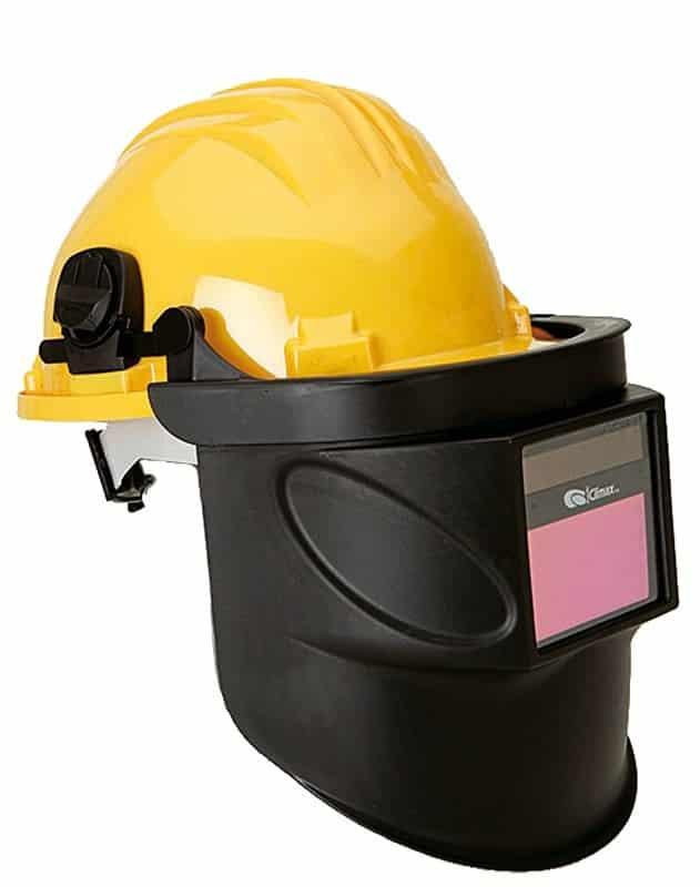 Pantalla de soldadura electrónica acoplada a casco, Mod. 415-E