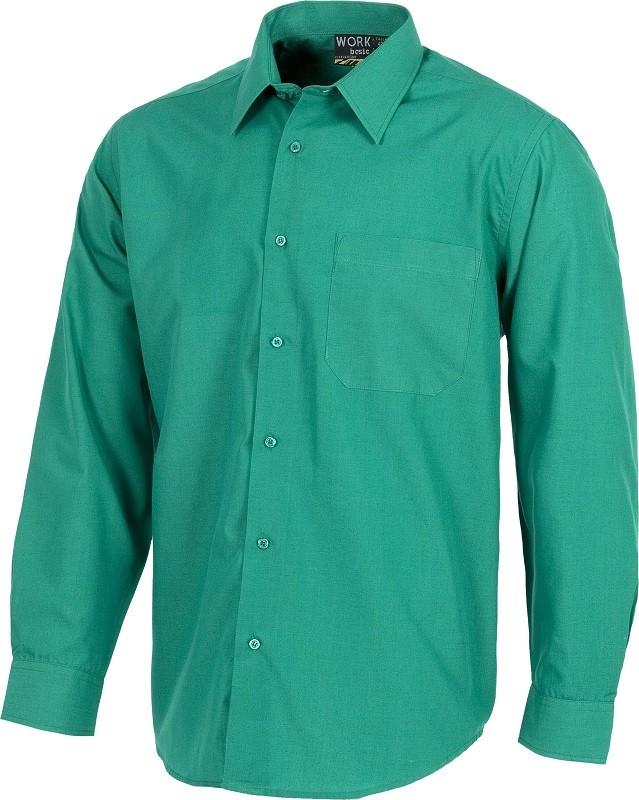 Camisa Manga Larga 65% Poliéster - 35% Algodón.