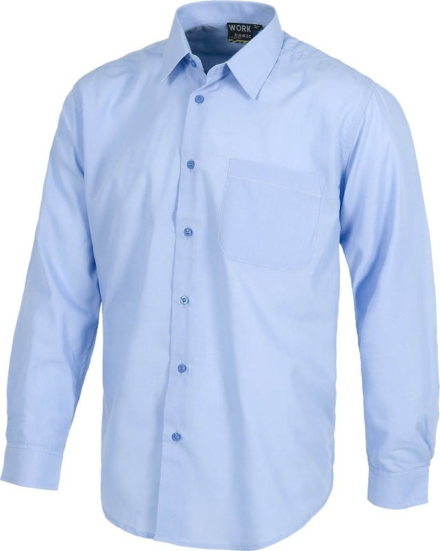 Camisa de trabajo industrial de Manga Larga 65% pol. 35% alg.