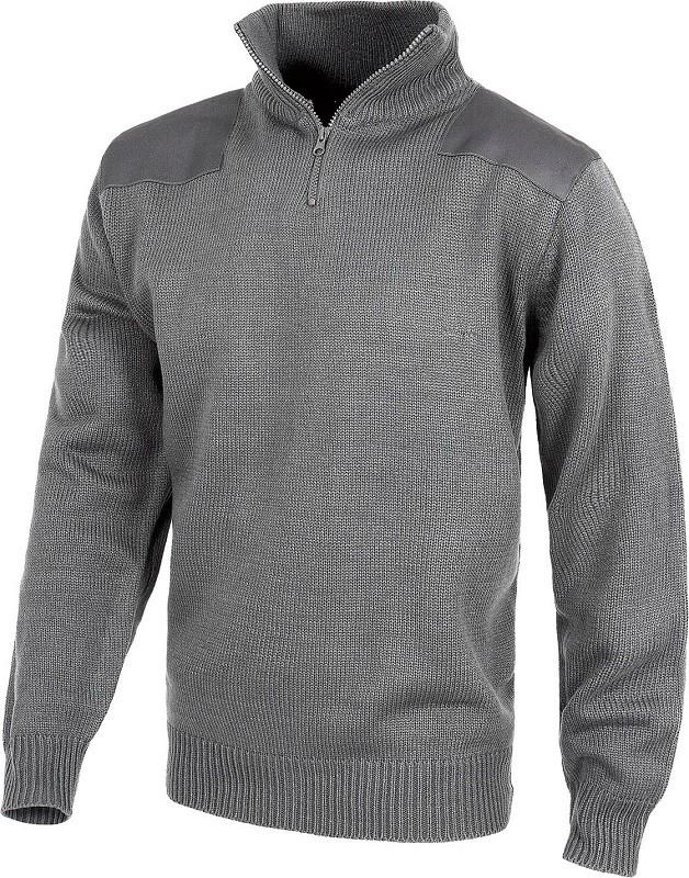 Jersey de trabajo industrial con refuerzo en hombros y codos 100% acrílico.