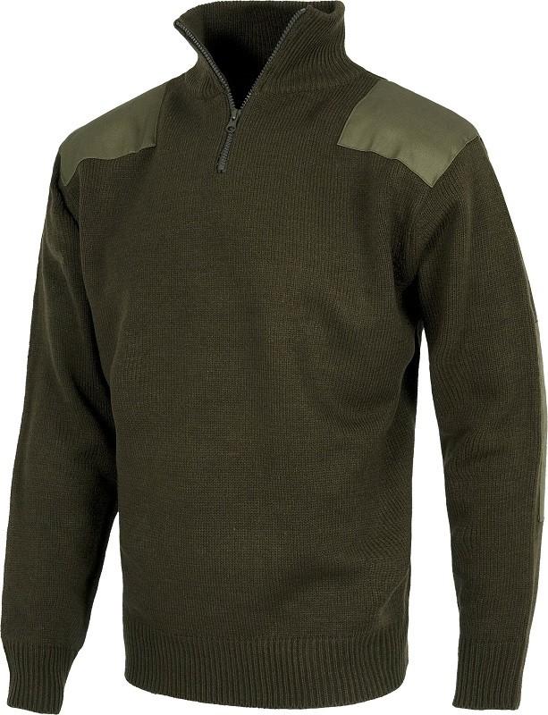 """Jersey reforzado tipo """"Comando"""" con refuerzo en hombros y codos 100% acrílico."""
