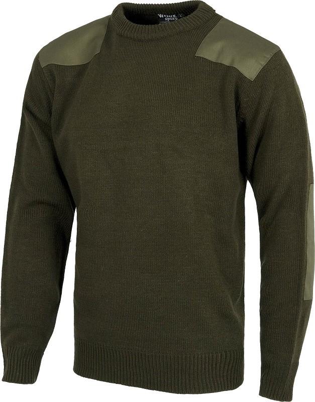 "Jersey reforzado tipo ""Comando"" de cuello redondo 100% acrílico."