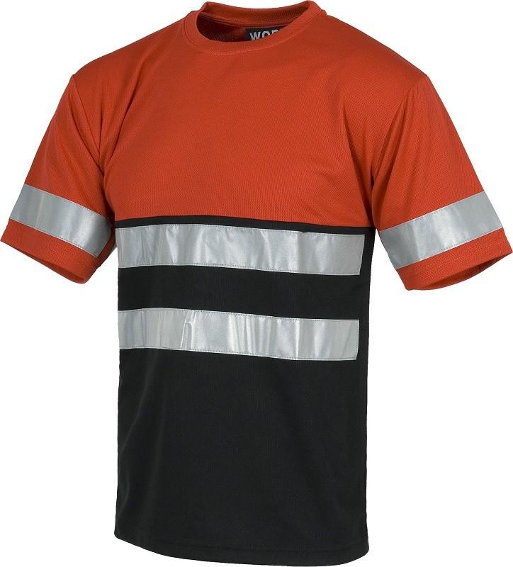 Camiseta Alta Visibilidad de Manga Corta Bicolor con bandas reflectantes.