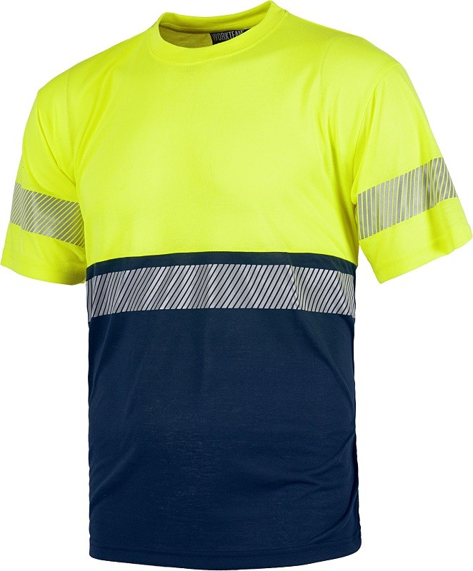Camiseta Alta Visibilidad combinada con banda reflectante Flexible.