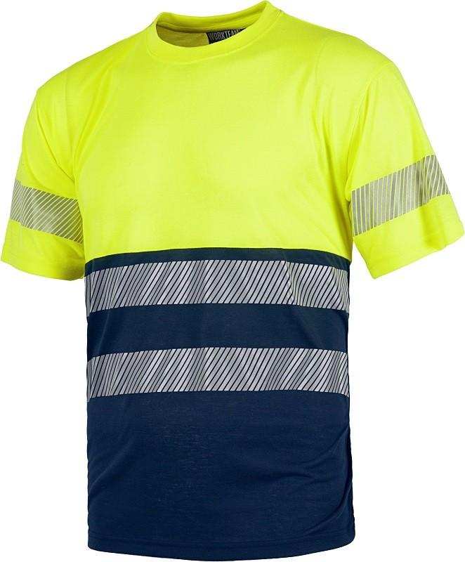Camiseta Alta Visibilidad combinada con bandas reflectantes Flexibles.
