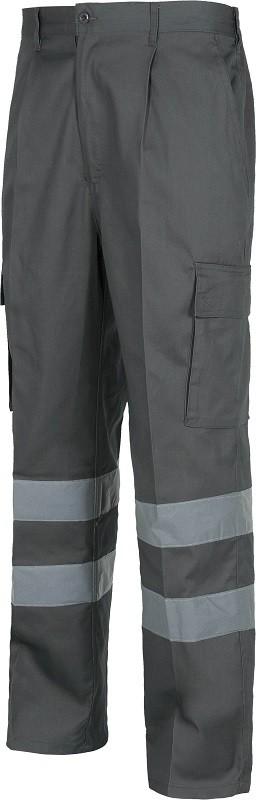 Pantalón de trabajo Multibolsillos con Bandas Reflectantes.