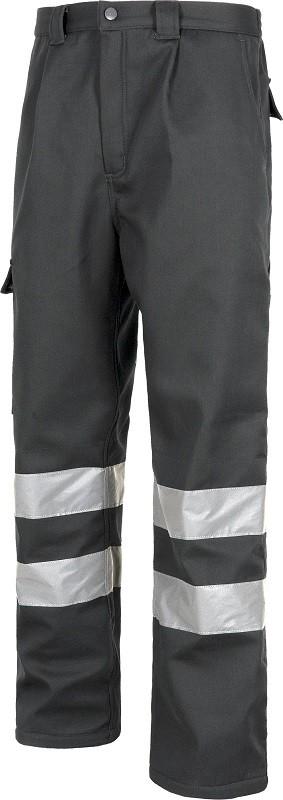 Pantalón contra frío de trabajo Multibolsillos con bandas reflactantes.