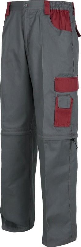 Pantalón Desmontable de trabajo Reforzado con colores combinados y vivos reflectantes.