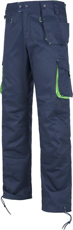 Pantalón de trabajo Reforzado y combinado con detalles fluorescente-reflectantes.